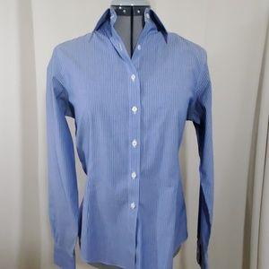 BROOKS BROTHERS Blue Striped Shirt Size 6